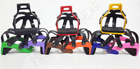ALUMINUM ENDURANCE RIDE CAGED SAFETY HORSE STIRRUPS With L/key For Remove Caged