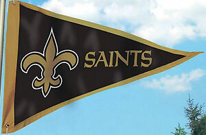 New Orleans Saints PENNANT 3x5 Flag Applique Embroidered Outdoor Banner Football