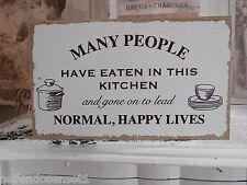Kitchen Küche shabby chic Holzschild Schild Schrift Spruch Schriftzug weiß