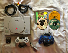 Playstation 1 Console With 2 Controllers and Games (Metal Gear, Crash Bandicoot)