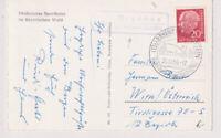 BUND, Mi. 185 EF, Landpoststpl. Brennes ü Bayerisch Eisenstein, 25.12.56