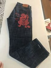 Evisu Mens Heritage Selvedge Denim Jeans 34 China Mint Condition!