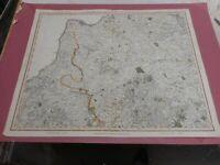 100% ORIGINAL LARGE DEVONSHIRE CORNWALL MAP BY JOHN CARY C1820 ORIGINAL COLOUR