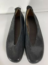 Wolky Women's Flat Shoes Black Metallic Size 39 US 8