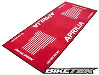 NEW BIKETEK SERIES 3 APRILIA RSV RED WHITE WORKSHOP GARAGE PIT MAT