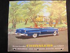 1953 CHRYSLER ORIGINAL SALES BROCHURE  WINDSOR & WINDSOR DELUXE
