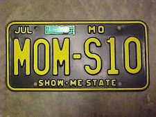 Original 1992 Missouri Mom s S-10 Chevrolet License Plate MO NR