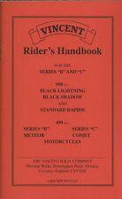 Vincent Riders manual de serie B C 998 Negro Sombra Rapide cometa NUEVO