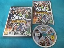 THE SIMS 3 AMBITIONS EXPANSION PACK PC/MAC DVD V.G.C. FAST POST COMPLETE