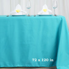 TURQUOISE 72x120 RECTANGLE POLYESTER TABLECLOTH for wedding shower reception