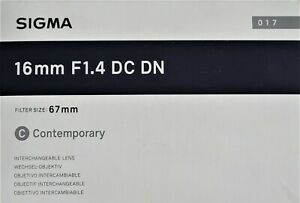 Sigma 16MM F1.4  Lens for Canon M Series