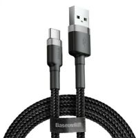 Pack of 2 BASEUS 3.3FT 3A USB-C Fast Charging Certified Qualcomm QC 3.0 Cable Ny
