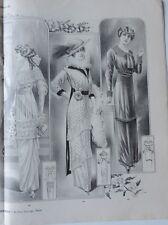 LA FEMME CHIC a PARIS FEBRUAR 1913 ALTE MODE HUT KLEIDUNG FRISUREN ZEITSCHRIF