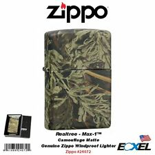 Zippo 24072, Camo Matte Lighter, Realtree Max-1 Camouflage, Genuine USA