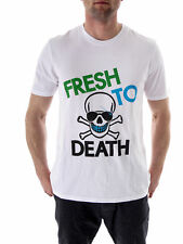 Local Celebrity T-Shirt Top White Fresh Crew Neck short Sleeve