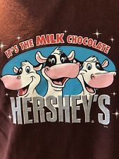 HERSHEY'S Brown Red Youth LG T Shirt It's The Milk Chocolate Cows