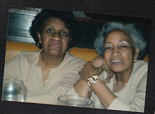 Vintage Photograph Two Older African American Women Sitting in Diner