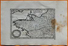 VAN DER AA Gravure originale c1725 CARTE BRETAGNE NORMANDIE Belle-Isle Rennes