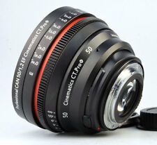 Customized Cine lens Canon 50mm f1.2 EF mount for Canon 5D BMCC BMPCC RED RAVEN