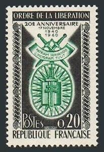 France 977 block/4,MNH.Michel 1325. Order of Liberation,20th Ann.1960.