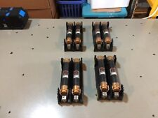 Lot of 4 Buss Bussman Fuse Holder H60030-2CR 30 amp 600 V w/ Fuses FRS-R-1-1/4