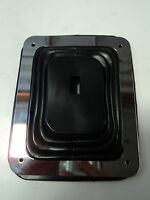 "Hurst Rubber Shifter Boot With Chrome Plate 5 5/8"" X 6 3/4"" Manual Automatic 350"