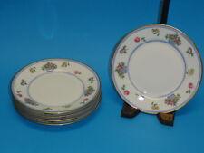 5x ANTIQUE BERNARDAUD & Co B & Co  FRANCE FLORAL GILT LIMOGES BREAD PLATE c.1900