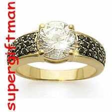 X039 - BAGUE OR / ring goud  SAPHIR CZ DIAMANT CZ T50