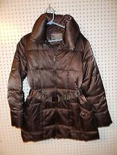 Womens Apt. 9 longer belted winter jacket - brown - large