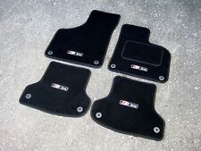 Audi A3 8P (2003-2012) Car Mats in Black + S-Line Logos (x4)