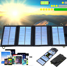 5V 7W Folding Solar Panel USB Travel Camping Portable Battery Charger For Phone