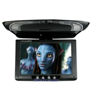 """11"""" Roof Mount Ceiling HD LCD Display In-car DVD Monitor MP5 DVR Reversing Cam"""
