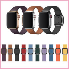 Genuine Leather Modern Buckle Strap Band For Apple Watch 5 4 3 2 1 40mm 44mm