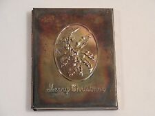 """Vintage Towle Silversmiths Merry Christmas Wish Photo Frame ~ 3"""" by 4"""""""