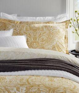 Christy Rhapsody Double Bed Ochre Reversible Duvet Cover Set