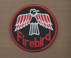 NEW 3 INCH PONTIAC FIREBIRD IRON ON PATCH FREE SHIPPING
