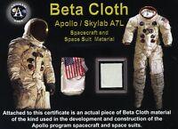 Authentic Fragment of Apollo Spacesuit Beta Cloth Fabric on Beautiful COA