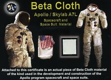 Authentic Fragment of Apollo Spacesuit Beta Cloth Fabric on Beautiful COA