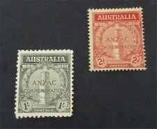 nystamps British Australia Stamp # 150.151 Mint OG H $53   A9y1344
