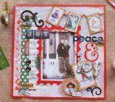 BoBunny Christmas Cottage Scrapbook Lot  Bo Bunny 12x12 paper & embelishment