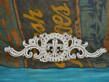 Cast Iron FleurdeLis Door Wall Plaque White Old World Tuscan Metal Shabby French