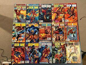 Marvel comic lot iron man 1998 1 2 3 4 5 6 7 8 9 10 11 12 13 14 15 16 17-25 vf+