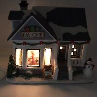 St Nicholas Square Christmas Village Lighted House Illuminated ABC Day-Care 2011