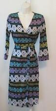 Diane von Furstenberg New Julian two Love Knot Bands 12 wrap dress black silk