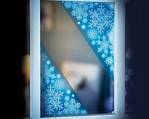 4 Glitter Window Corner Cling Sticker Snowflake Icicle Tree Christmas Decoration