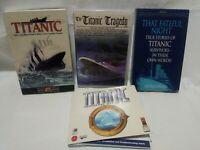RMS Titanic Audio Books Of Cassette, CD Rom Game.  B31