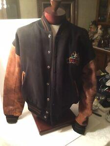 Vintage Walt Disney Studios Leather jacket 90's Mickey Mouse XL
