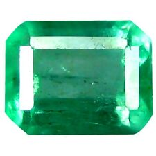 0.95 ct Natural Not-Heated Octagon-cut Neon Green VS Emerald (Columbia)