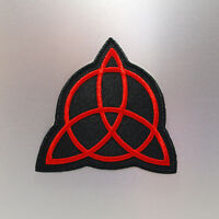 Trinity Knot Patch — Iron On Badge Embroidered Motif — Celtic Symbol
