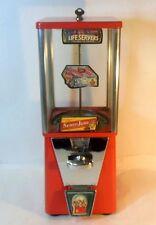 Vintage Gumball Machine Oak Mfg Los Angeles Calif Original Key Life Saver decal